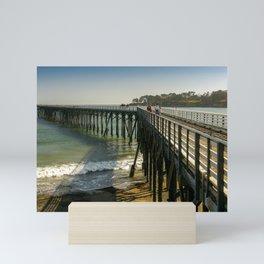 San Simeon Pier, San Simeon, California Mini Art Print