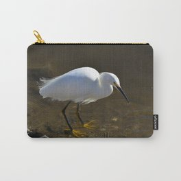 Snowy Egret with Catch Carry-All Pouch
