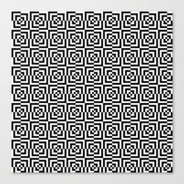 Black & White Squares Canvas Print