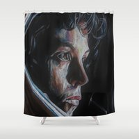 ripley Shower Curtains featuring Ripley from Aliens by Ashley Anderson