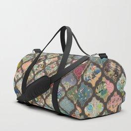 lanterns on leopard mix prints Duffle Bag