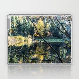 French lake in autumn Laptop & iPad Skin