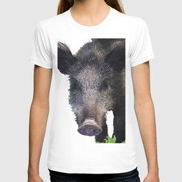 Crazy As A Peach Orchard Boar Vector T-shirt