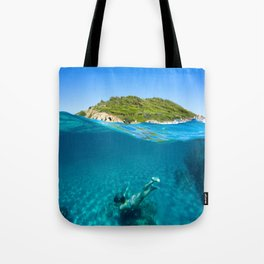 St Tropez Sea Three Tote Bag