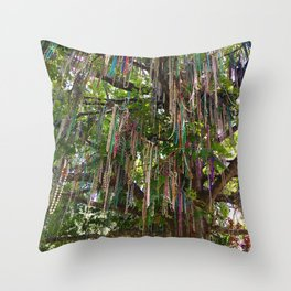 Bead Tree (New Orleans) Throw Pillow