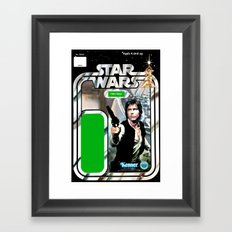 Han Solo Vintage Action Figure Card Framed Art Print
