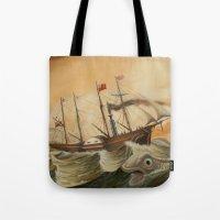 western Tote Bags featuring Great Western by skot olsen