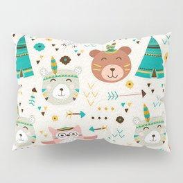 Boho Forest , Woodland Critters Pillow Sham