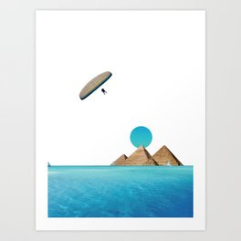 Flying on Egypt Art Print