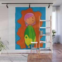 Goauche girl Wall Mural