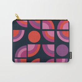 Outta Sight - 70s retro throwback trendy vintage style geometric 1970's Carry-All Pouch
