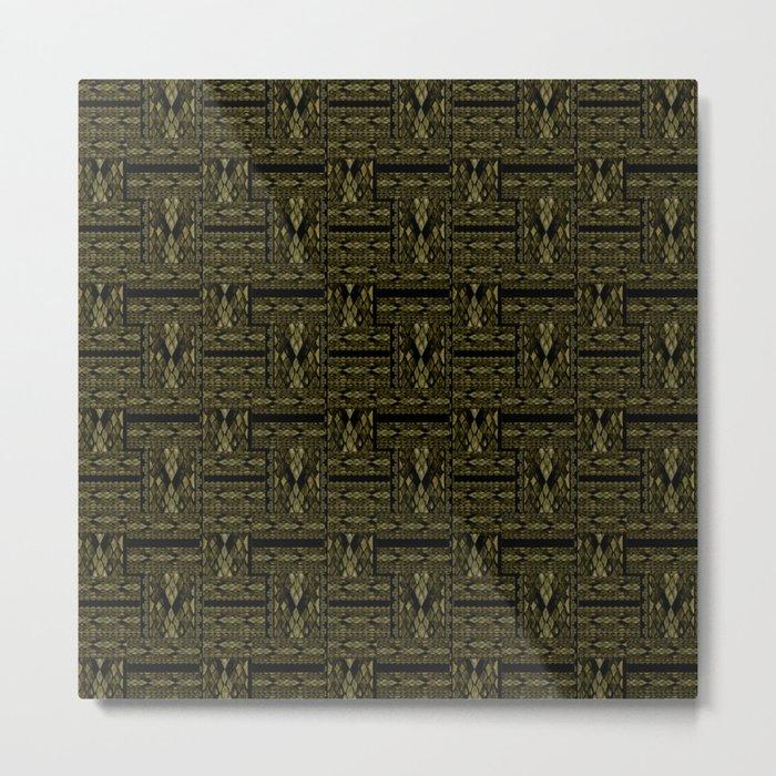 Patchwork seamless snake skin print Metal Print