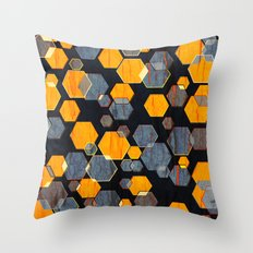 construct hex v3 Throw Pillow