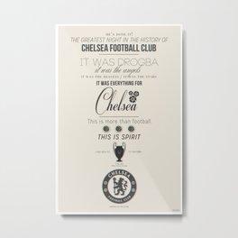 Chelsea F.C. Champions League Winners Metal Print