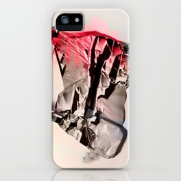 neon hands up iPhone Case