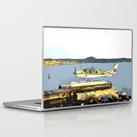 airplane Laptop & iPad Skins featuring Airplane by Cindys