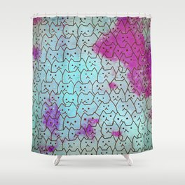 cats new colour 628 Shower Curtain