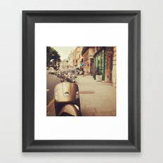 Vespa in Paris Framed Art Print