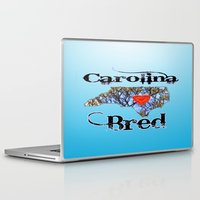 north carolina Laptop & iPad Skins featuring North Carolina Bred by Just Bailey Designs