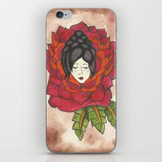 Lady in Rose iPhone & iPod Skin