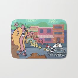 Hot Dog Attack! Bath Mat