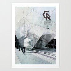The Caravansary Rail Art Print