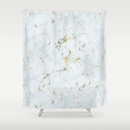 Ice Frost Marble Gold Mine Shower Curtain