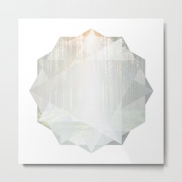 Poly Forest Metal Print