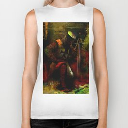 The prayer of the Knight Templar Biker Tank
