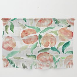 Watercolor Peaches Wall Hanging