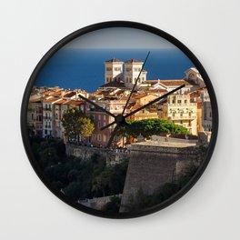 Monaco Le Rocher Cities Building Houses Wall Clock