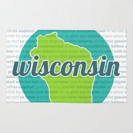 Words of Wisconsin Rug