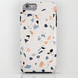 terrazzo pattern iPhone Case