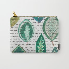 Leaves with words Carry-All Pouch