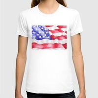 american flag T-shirts featuring American Flag by Bridget Davidson