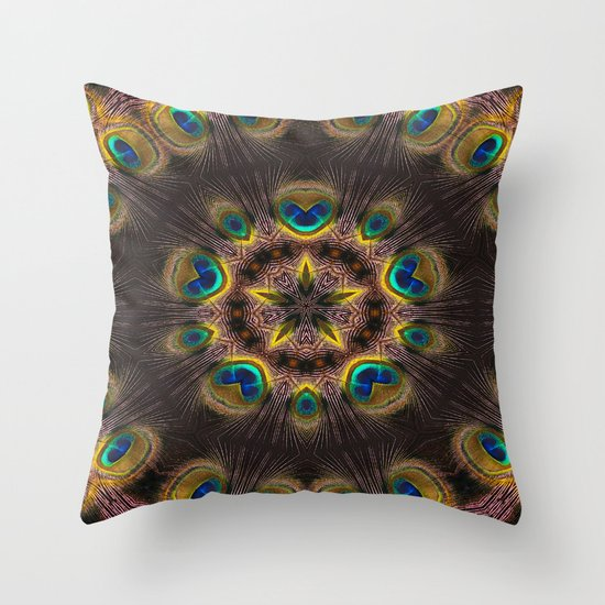 The Eye of the Peacock Throw Pillow