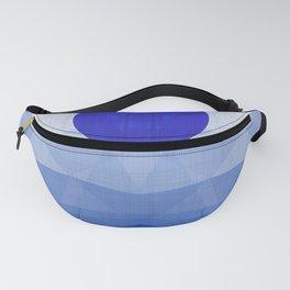 Lapis Lazuli Ocean - Minimal Geometry Fanny Pack