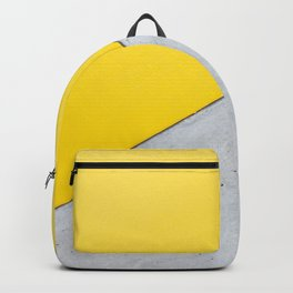 Yellow & Gray Abstract Background Backpack