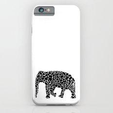 Elephant with giraffe print iPhone 6s Slim Case