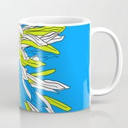 Colorful bold flourescent vibrant floral design blue version Coffee Mug