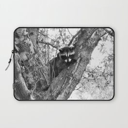 Baby Raccoon black and white Laptop Sleeve
