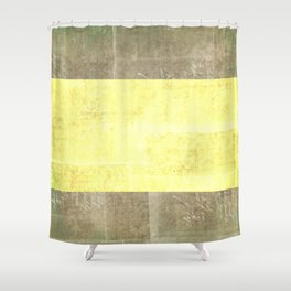 Goldy Blocked | Minimalist | Abstract | Modern | Shapes | Geometrix Shower Curtain