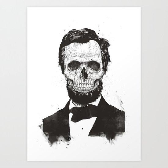 Dead Lincoln (b&w) Art Print