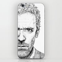 house md iPhone & iPod Skins featuring Hugh Laurie, House MD by Milicule