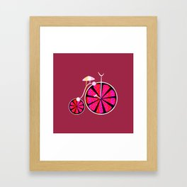 Fruity ride Framed Art Print