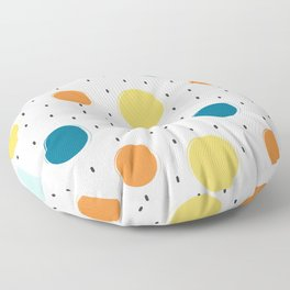 cute colorful pattern with grunge circle shapes Floor Pillow