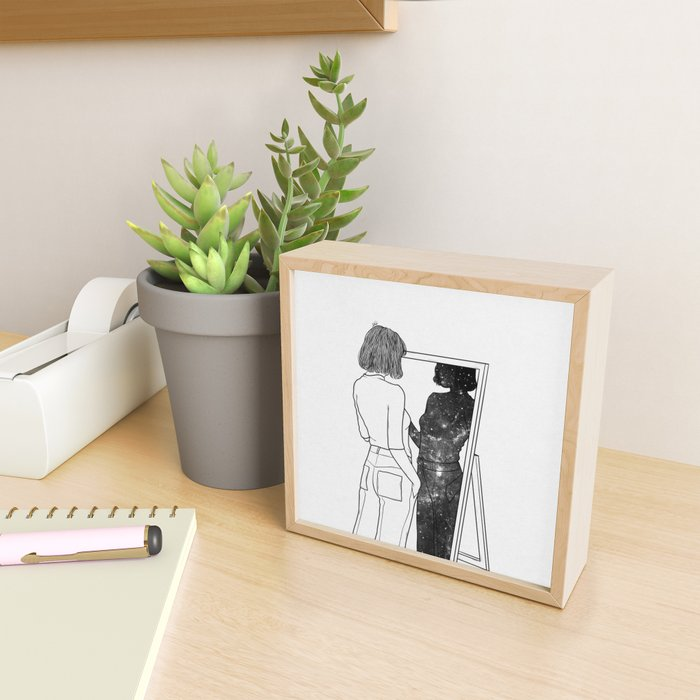 The reflection of your soul. Framed Mini Art Print