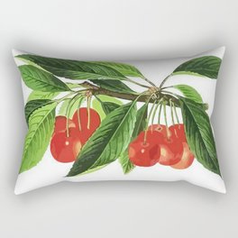 Red Cherries Vector on White Background Rectangular Pillow