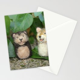 Felted Animal Miniatures Stationery Cards