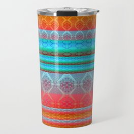 Soulful Sunset Dancing Mandala Lines Travel Mug